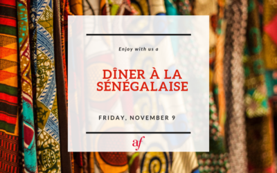 Senegalese Dinner – Dîner à la Sénégalaise | Friday, November 9 | Midtown