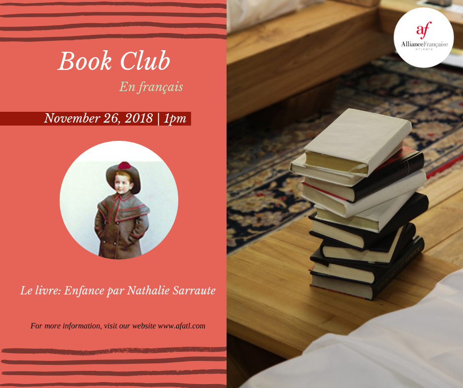 Book Club In French Enfance By Nathalie Sarraute Monday