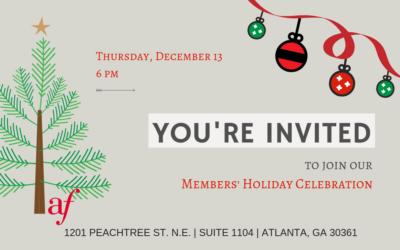 AFATL Members' Holiday Celebration | Thursday, December 13 | Midtown