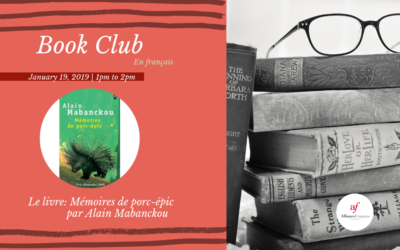 Book Club in French: Mémoires de porc-épic by Alain Mabanckou | Saturday, January 19 | Midtown
