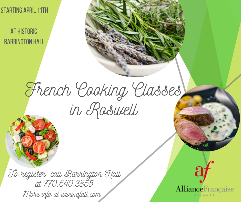 French Cooking Classes @ Historic Barrington Hall | Roswell | Georgia | United States