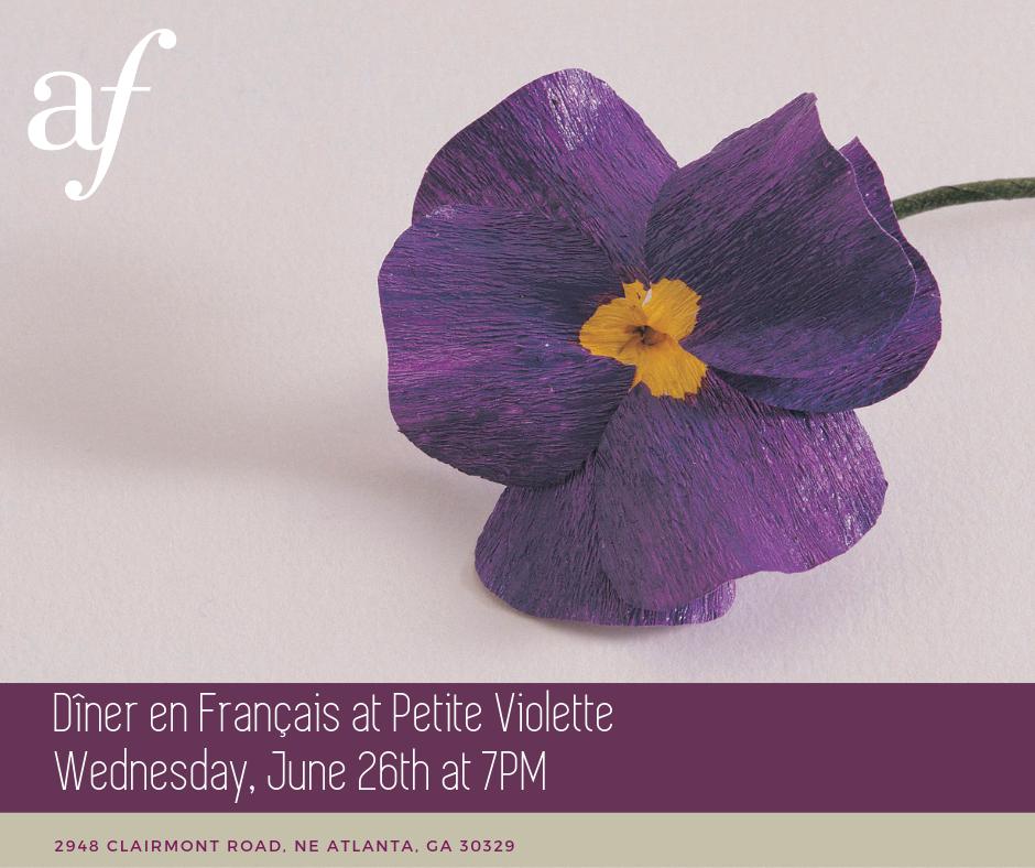 Dîner en Français at Petite Violette @ Petite Violette