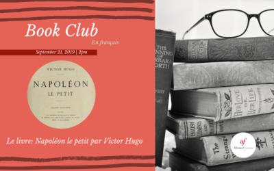 Book Club en français | Saturday, September 21 | Midtown