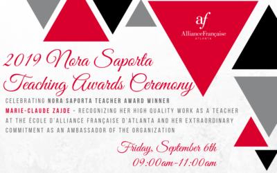 Nora Saporta Awards Ceremony | Friday, September 6th | Midtown