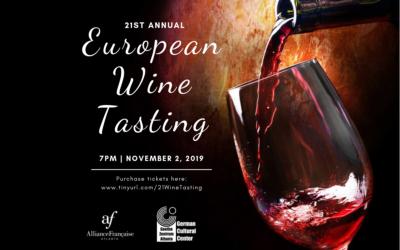 21st Annual European Wine Tasting | Saturday, November 2 | Midtown